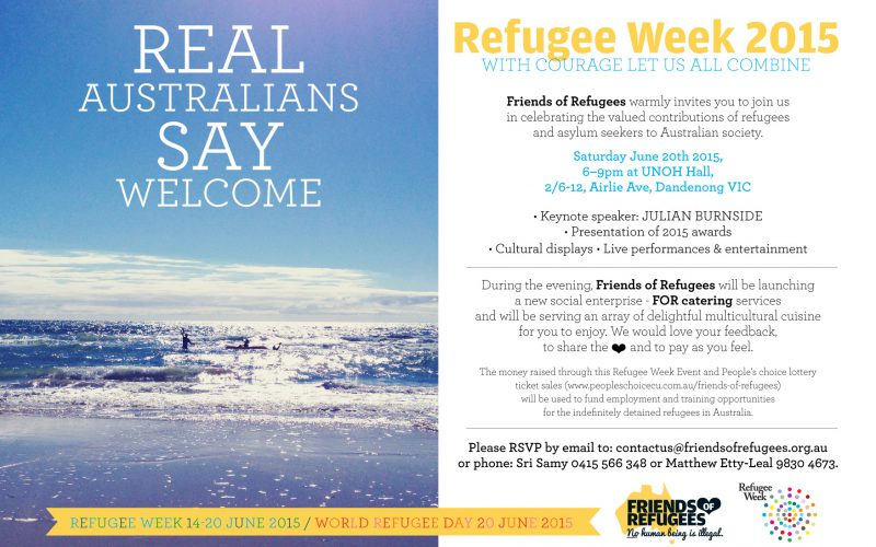 FOR_Refugee Week 2015 Celebration_Invitation